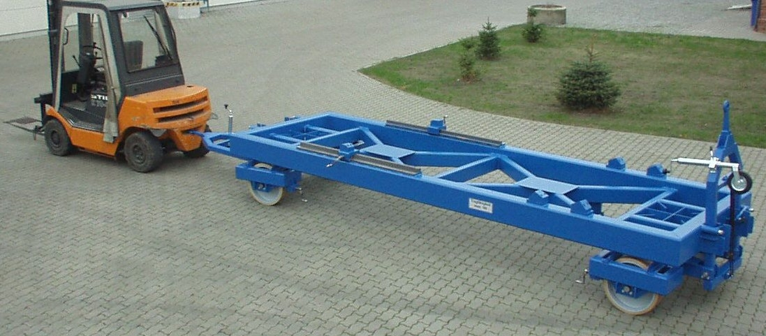 Transport carriage for bogies (with forklift)