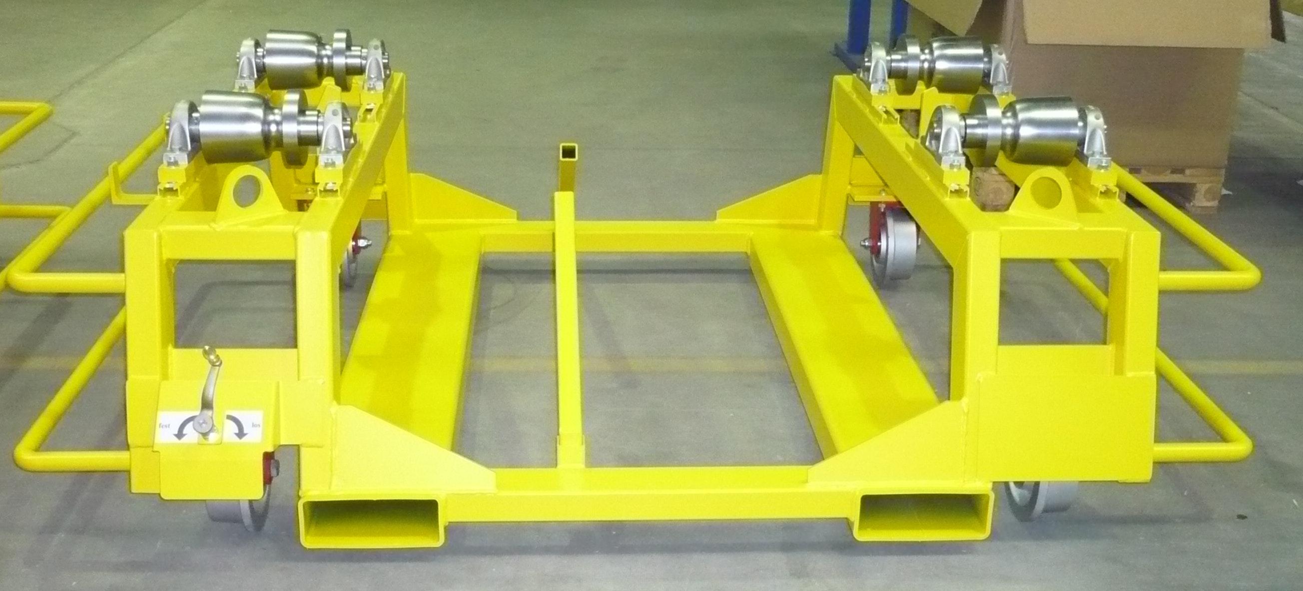 Transport rack for drive wheelsets suitable for rail transport