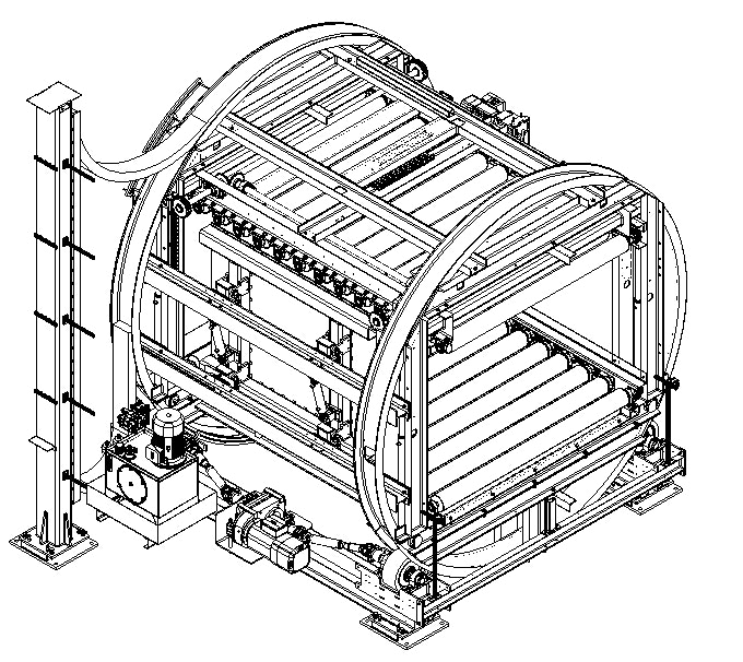 3D-Darstellung Stapelwender für MDF-Platten