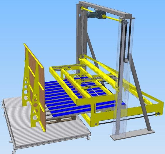 3D-Darstellung Lagenpalettierer